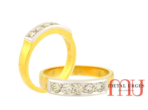 eternity ring in 18ct yellow gold and platinum