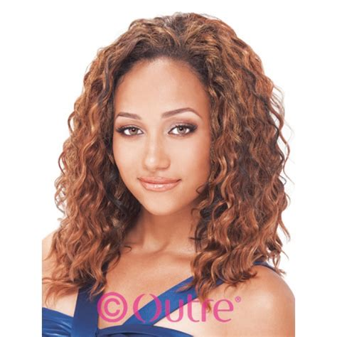loose deep wavy hair photo outre human hair loose deep wave weaving 18 inch