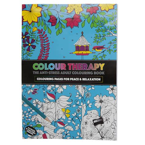 color therapy an anti stress coloring book ebay new anti stress colour therapy colouring books pencils set