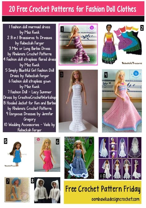 fashion doll free 20 free patterns for fashion doll clothes oombawka