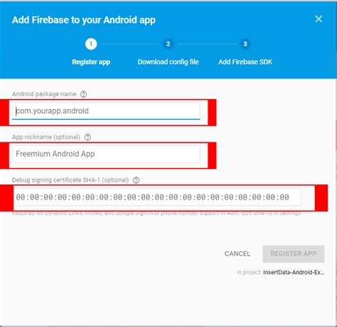 javascript tutorial with real time exles add sha1 key firebase 6 android exles