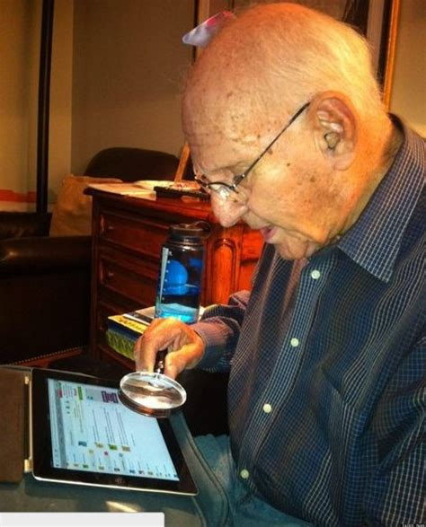 Grandfather S | grandpa s ipad is no match for his magnifying glass photo