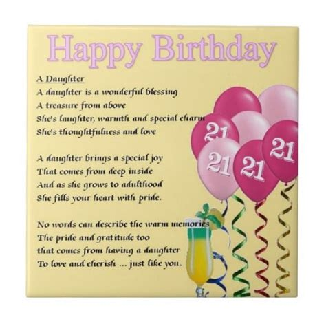 21st Birthday Quotes 21st Birthday Poems For Daughter Google Search Poems