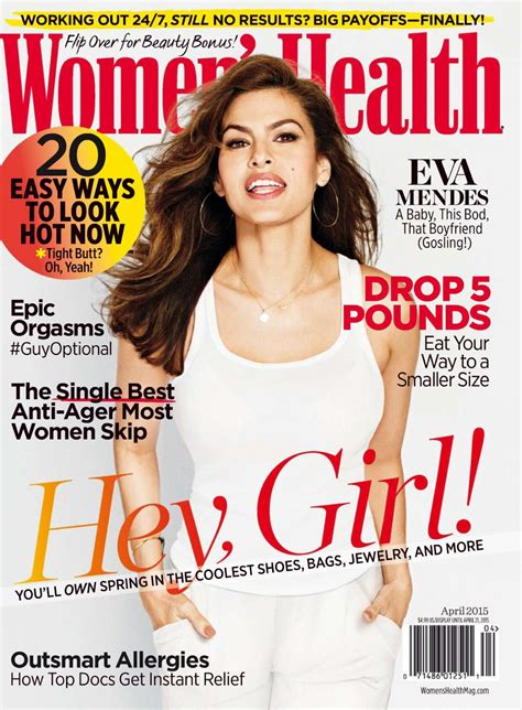women magazine eva mendes women s health magazine april 2015 issue