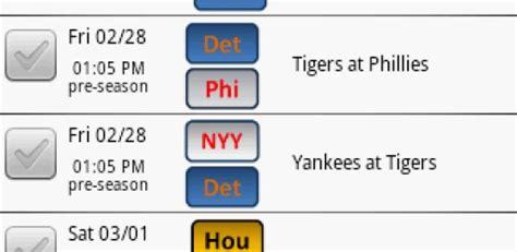 Detroit Tigers Printable Schedule 2015
