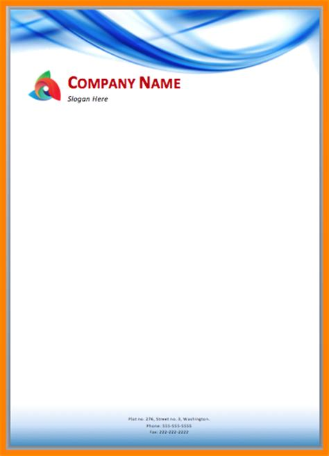 5 free company letterhead template download sle of