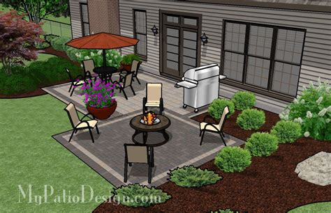 Simple Backyard Patio Designs Simple 2 Paver Style Patio Tinkerturf