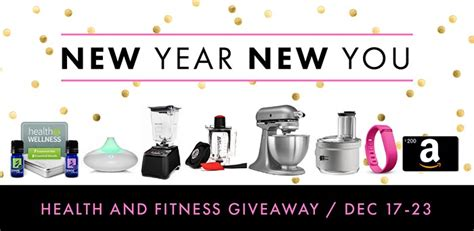 Healthy Giveaway Ideas - kara s party ideas new year new you giveaway healthy fitness goals giveaway