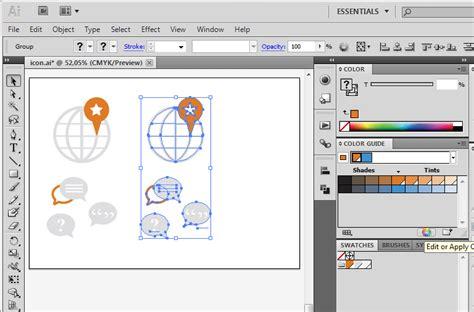 adobe illustrator recolor pattern icon design tutorial recoloring vector icons in illustrator