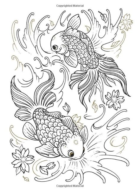 Koi Fish Coloring Pages For Adults Coloring Pages Fish Coloring Pages For Adults