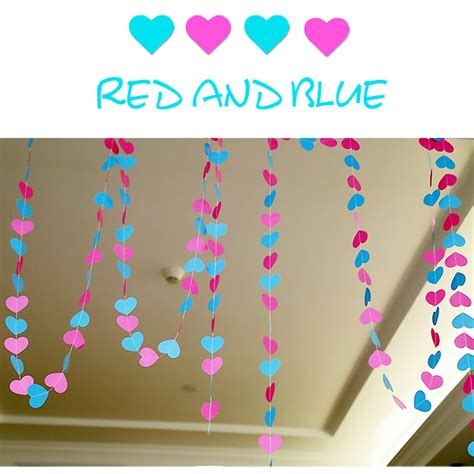 Handmade Wall Hanging For Birthday - 4m colorful paper wedding decoration garland