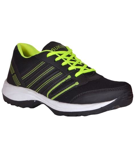 shoes for sport sukun black green sports shoes for buy sukun black