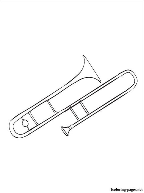 trombone coloring page coloring pages