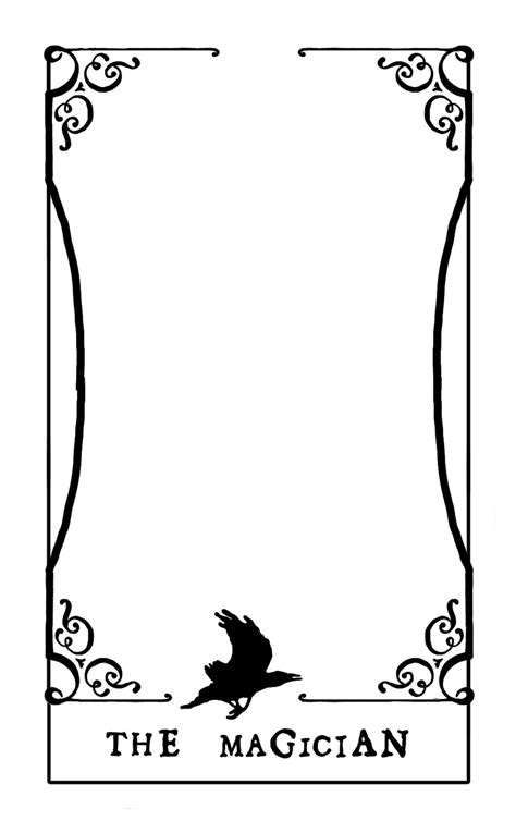Tarot Card Template Illustrator by Tarot Card Template By Contntlbreakfst On Deviantart