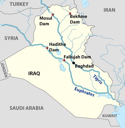 rivers in iraq map mideast water wars in iraq a battle for of water