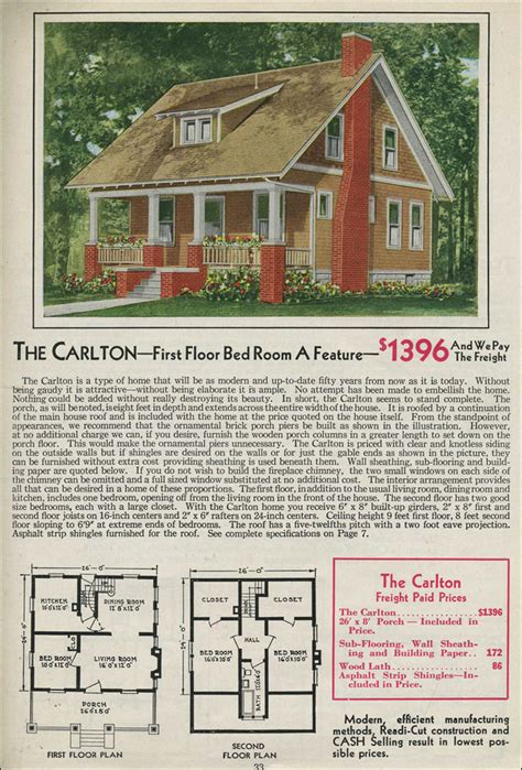 aladdin homes floor plans 1931 kit home aladdin bungalow the carlton