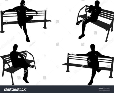people sitting on a park bench people sitting on a park bench vector 165124619 shutterstock