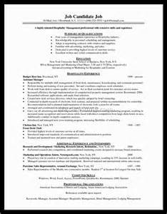 Hotel Resume Objective by Exle Of Resume Objective For Teaching Position Document Part 5