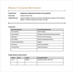 project charter document template sle project charter template 8 free documents