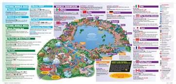 map of epcot florida mapa de disneyworld orlando viaje disney orlando