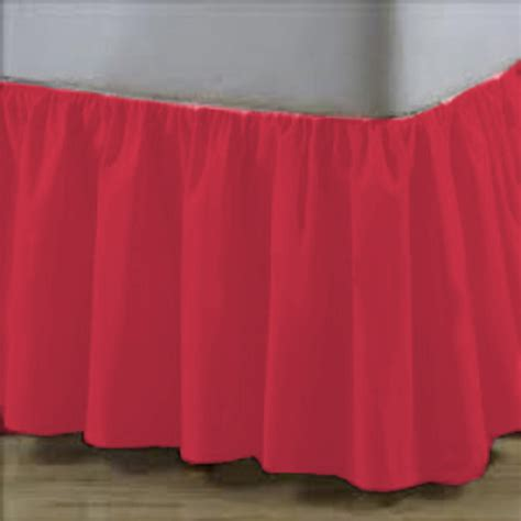 coral bed skirt elegant cotton coral ruffle bed skirt with hook and loop