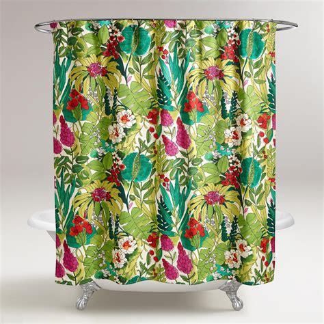 world market shower curtain fiji foliage shower curtain world market