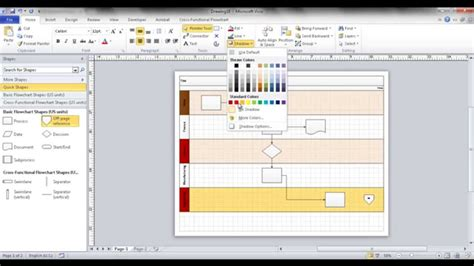 visio swimlanes create a swim flowchart in visio
