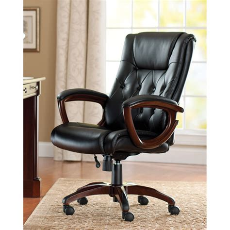 Better Homes And Gardens Office Furniture Better Homes And Gardens Bonded Leather Executive Office Chair Walmart