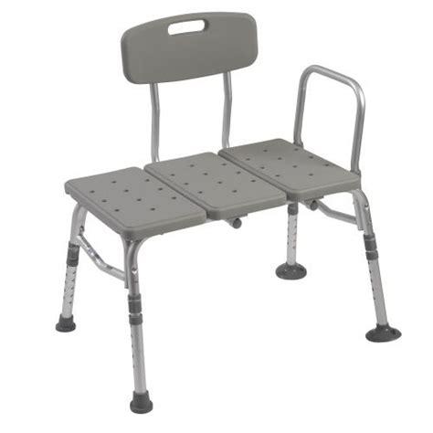 plastic transfer bench plastic transfer bench with adjustable backrest by drive medical 12011kd 1