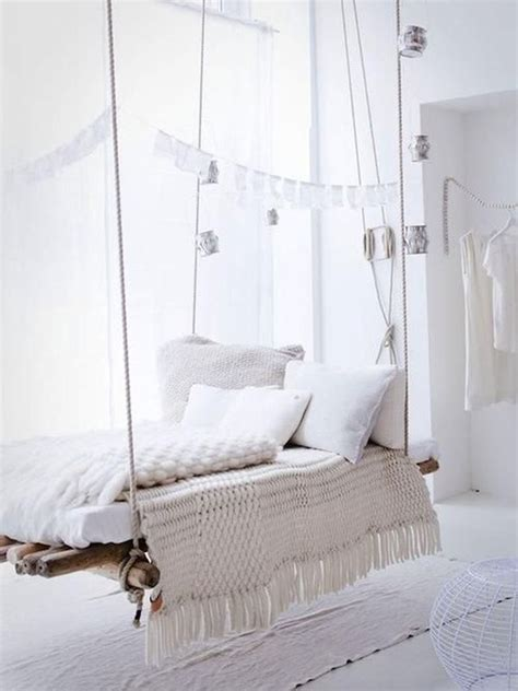 swinging bed frame suspended in style 40 rooms that showcase hanging beds
