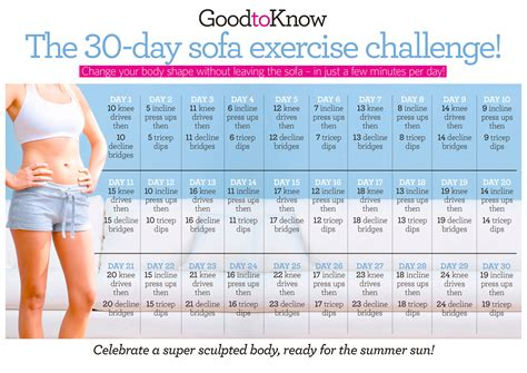 the 30 day sofa exercise challenge goodtoknow