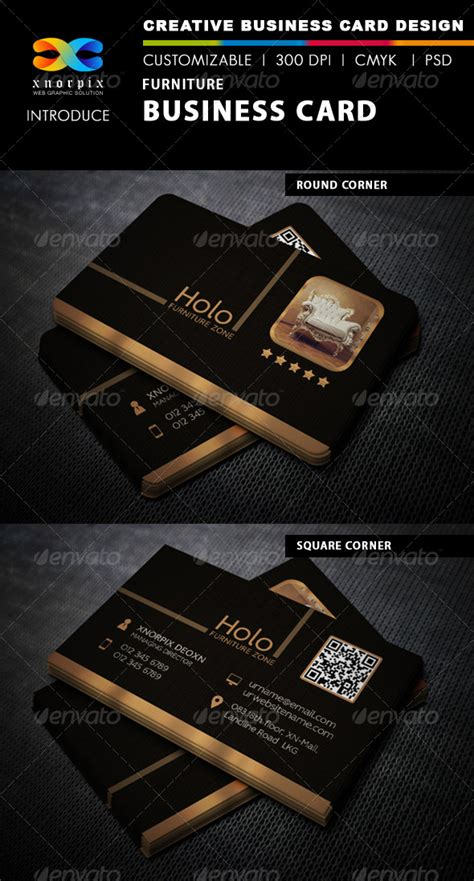 Furniture Business Cards Templates by Furniture Business Card Corporate Business Cards