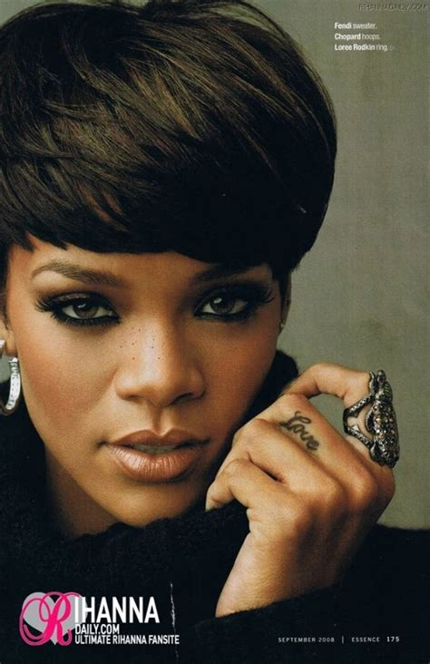 essence short hair gallery photos short hairstyle rihanna