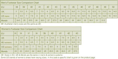 australian shoe size chart footwear size guide