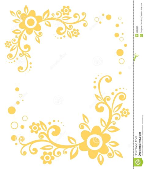 border design flower yellow yellow floral border royalty free stock photo image 5269855