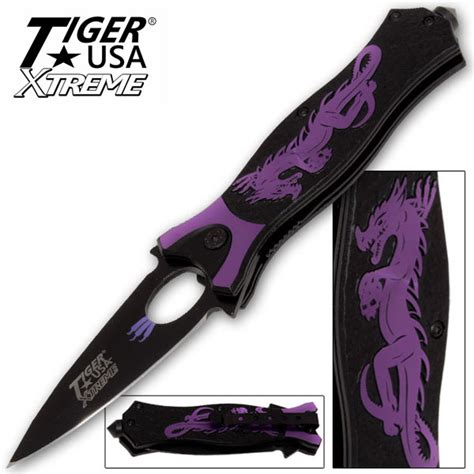 Kitchen Knives For Sale Cheap by Tiger Usa Xtreme Dragon Watch Assisted Knife Purple