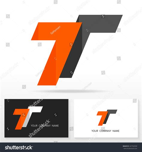 t card template design letter t logo design vector sign stock vector 347762939