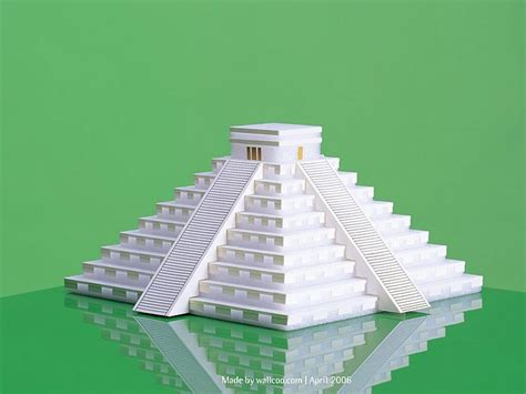 Papercraft Pyramid - pyramid of the sun paper model pyramid of the sun