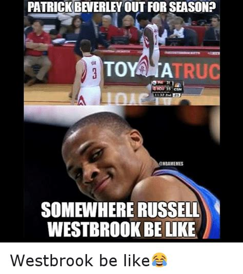 Russell Meme - patrick beverley out for seasono to tru traou 35 1132 2nd
