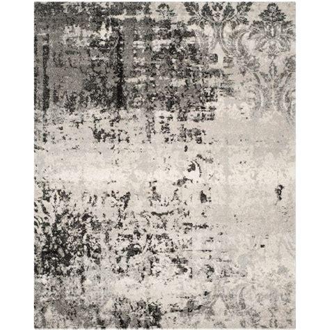 Safavieh Retro - safavieh retro light grey grey 8 ft x 10 ft area rug