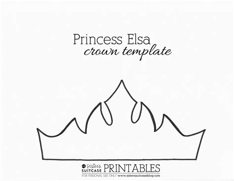 free printable tiara template frozen elsa crown template sven antler template