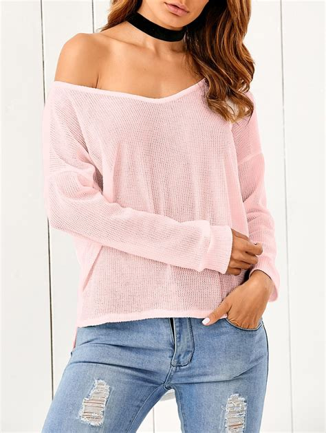 one shoulder knit sweater one shoulder cable knit sweater in pink sammydress