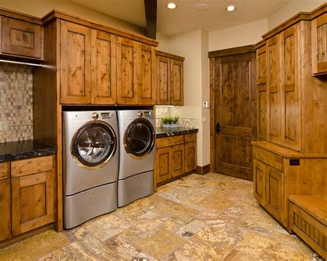 floor and decor cabinets brick flooring and painted cabinet for rustic laundry