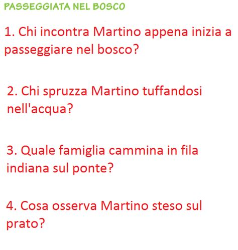 testi di italiano comprensione testo classe seconda