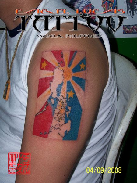 philippines flag tattoo design philippine flag