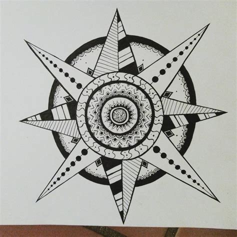 star mandala tattoo design