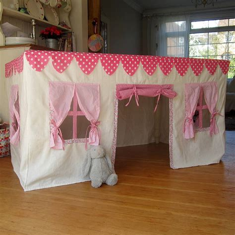 pattern sheet cubby house fabric playhouse by the fairground notonthehighstreet com