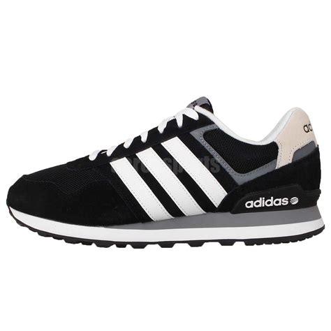 adidas 10k black white grey neo label 2015 fashion runner mens casual shoes