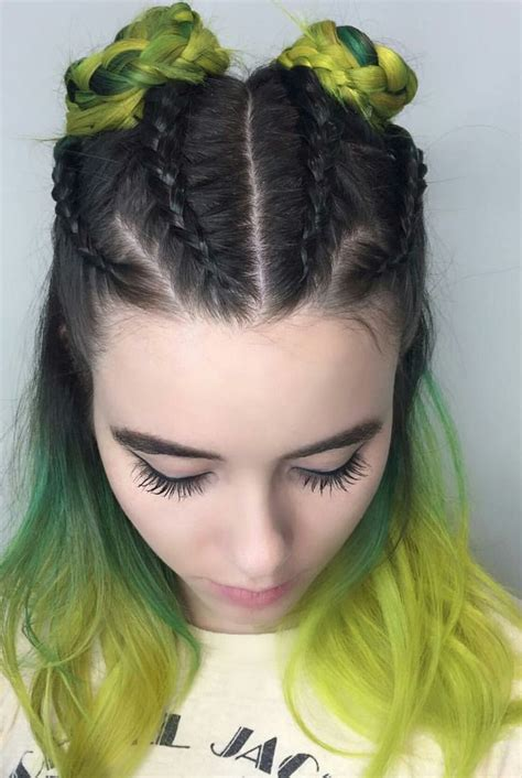 Dyed Hairstyles by 25 Best Ideas About Half Dyed Hair On