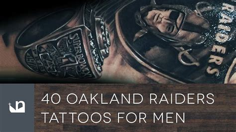 40 oakland raiders tattoos for men youtube
